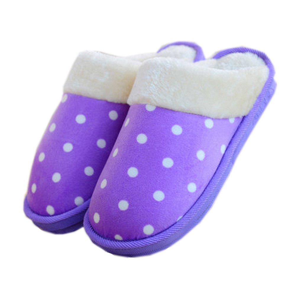 Womens Indoor Warm & Cozy Plush House Slipper, Purple Blancho Bedding