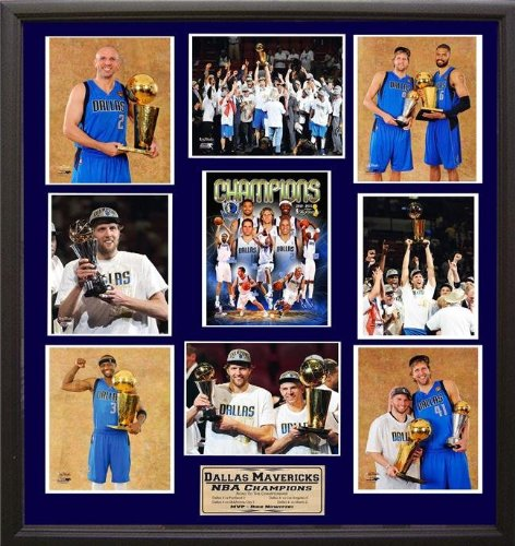 NBA Dallas Mavericks 30x34 Deluxe Frame Photo Collage Print by Encore