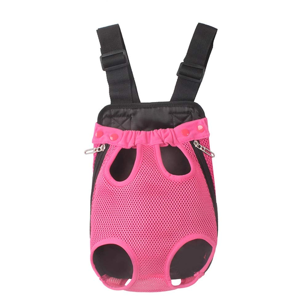 pink red SHYUE Pet Chest Bag MultiFunction Commodious Bag Shoulder Pet Backpack (color   Green, Size   L)