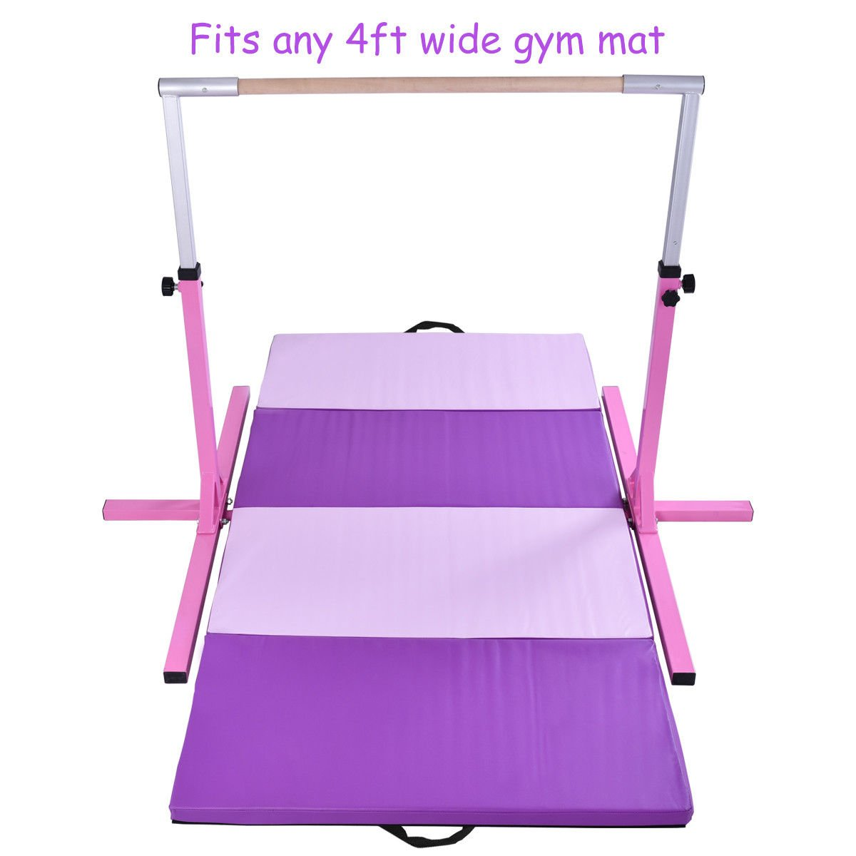 KCHEX>>水平トレーニングバー 4フィートx8フィートx2 体操マット 折りたたみパネル フィットネスエクササイズ >これは当社の新しく体操セットで、水平トレーニングバーと体操用具が含まれます。