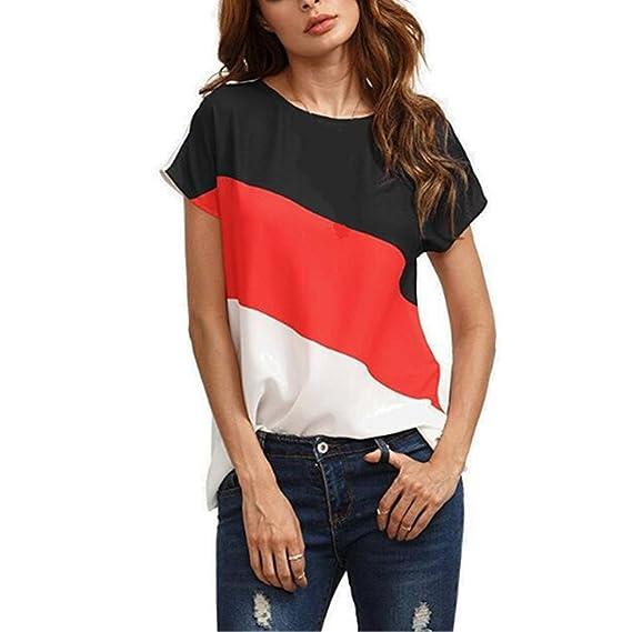 Camiseta de Mujer, Lananas 2018 Summer Hot Sales Manga Corta O-Cuello