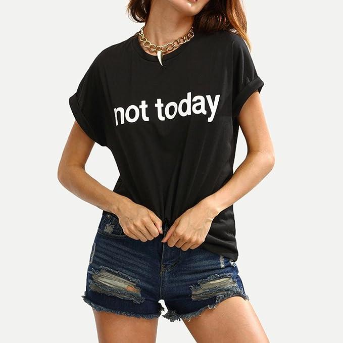 Camisetas Mujer, Culater Verano Moda Blusa de manga corta Tops eslogan