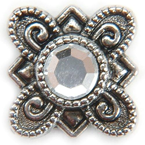 Metal Slider Beads W/Swarovski Crystal 10/Pkg-Flow 1 pcs SKU# 658846MA ()