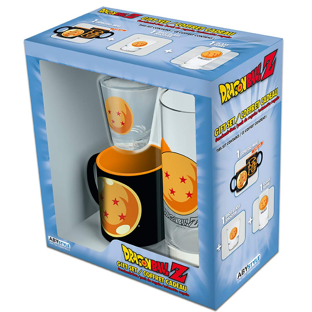Dragon Ball Z - Shot Glass Gift Set (Includes Shot Glass, Drinking Glass, and Espresso mug)