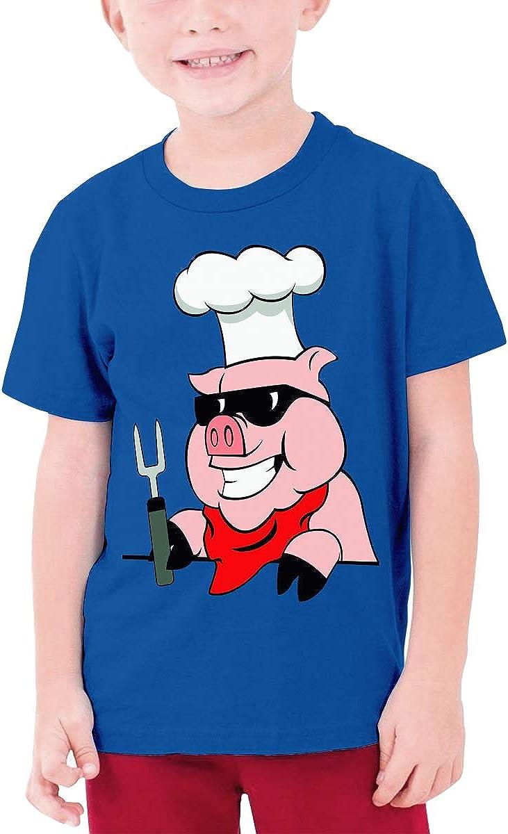 Youth Graphic Tshirts Teenage Boys Girls Short Sleeve T-Shirt Pig Cheif Printed Round Collar T Shirt Tees Tops