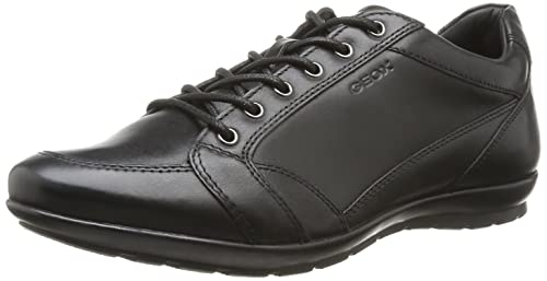 Geox U Symbol D - Smooth Leather, Mens Derby, Black (Black),