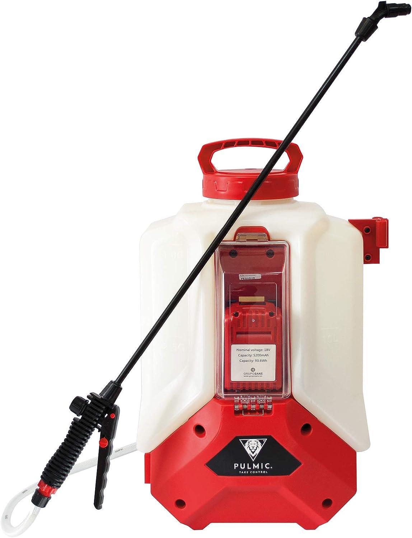 Pulmic Pegasus 15 Pulverizador hidráulico eléctrico Advance, 15 litros, Rojo y Blanco