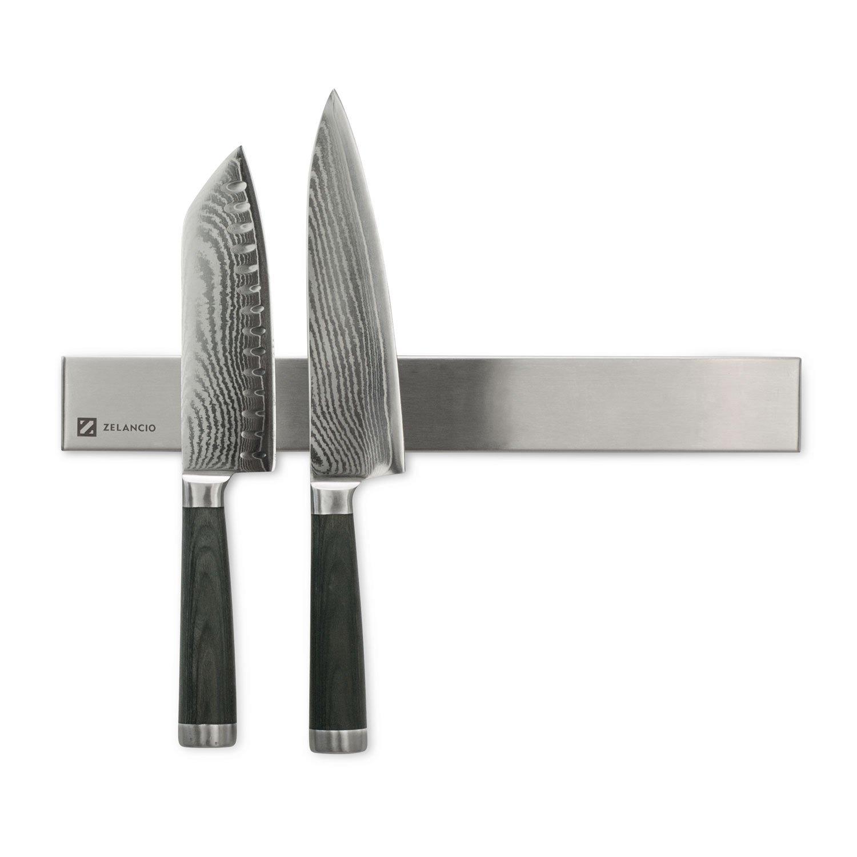 Zelancio ZEL-MKH-SS Magnetic Knife Strips, Stainless Steel