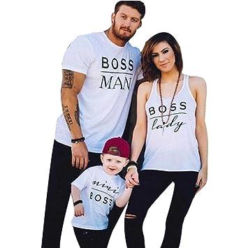 Familien Kleidung Mutter und Tochter Kleidung Sommer Family Partnerlook Tank Tops T-Shirt Bluse Brief Kurzarm Baby Kleidung Baby Outfit Babykleidung