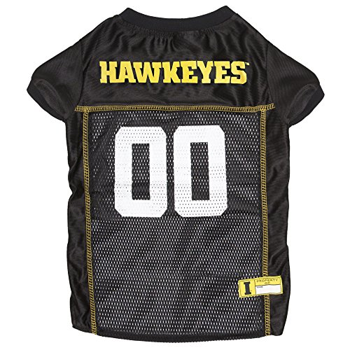 (NCAA UNIVERSITY of IOWA HAWKEYES Dog Jersey, XX-Large )