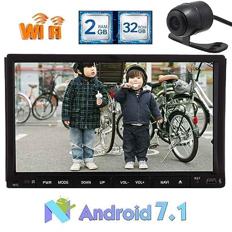 Wifi 8 pulgadas Android 7.1 Doble 2 Din Car Stereo receptor video capacitiva radio de la