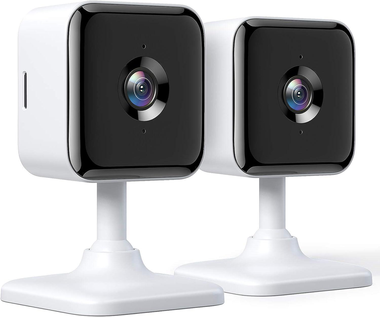 2 cámaras de vigilancia Teckin WiFi con visión nocturna, audio bidireccional, detección de movimiento y Alexa por 25,49€