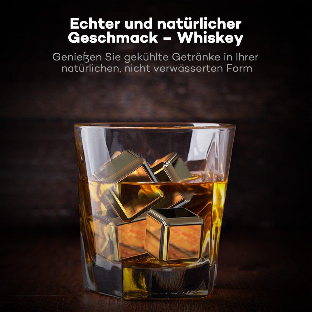 TaoTronics Edelstahl Eiswürfel Wiederverwendbare Whisky Stones Ice ...