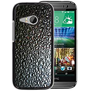 Planetar® ( Grey Black Pattern Abstract ) HTC ONE MINI 2 / M8 MINI Fundas Cover Cubre Hard Case Cover