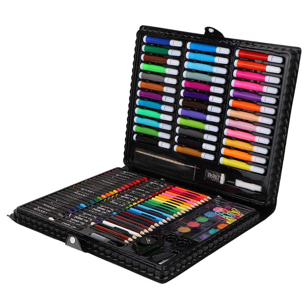 KEYREN 150pcs/set Kid Painting Tools Art Drawing Colored Pencil Watercolor Pen Set School Supplies for Child Create Sketching Pattern Draw Color by KEYREN