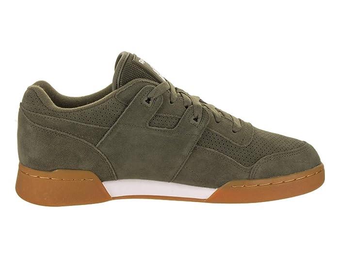 5b8e0aa06723c Reebok Men s Workout Plus EG Fashion Sneakers Army Green White Gum   Amazon.co.uk  Shoes   Bags