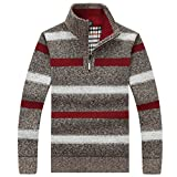 PUTAOJIAZI Men Casual Sweaters Knitted Knit Pullover Masculino Sueter Pull Homme Jersey Khaki L