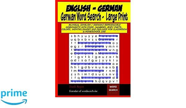 german word search large print bilingual english german