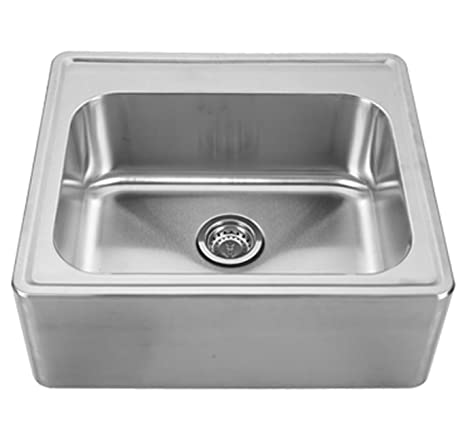 Whitehaus WHNAP2522 BSS Noahu0027S Collection 25 Inch Single Bowl Drop In Sink  With