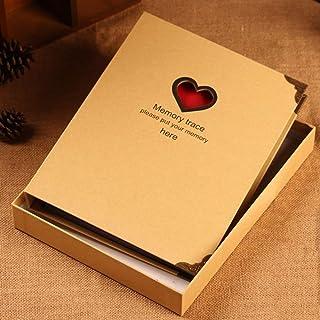 ZZHF xiangche Photo Album, Paper Handmade Pasted Black Card Album Romantic Lovers Love Notebook Loose-Leaf Practical Simple Commemorate Photo Album Album (Color : C) qingchundejiyi