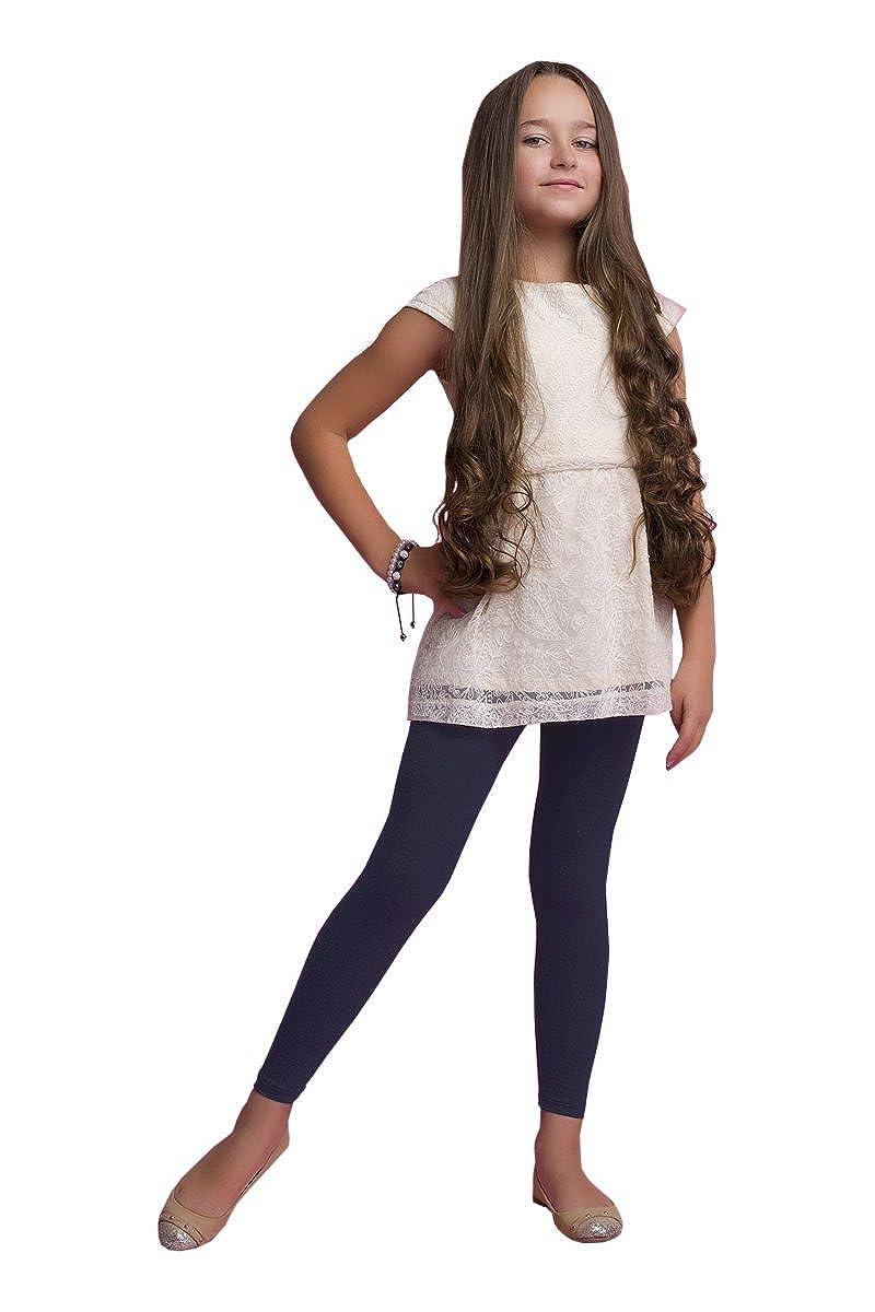 infatti Ragazze Lunghe Leggings Pantacollant Basic Lunghezza del Cubo Cotone Opaco 4-12 anni