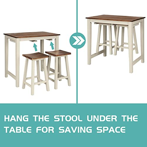 Giantex 3 Piece Pub Dining Set