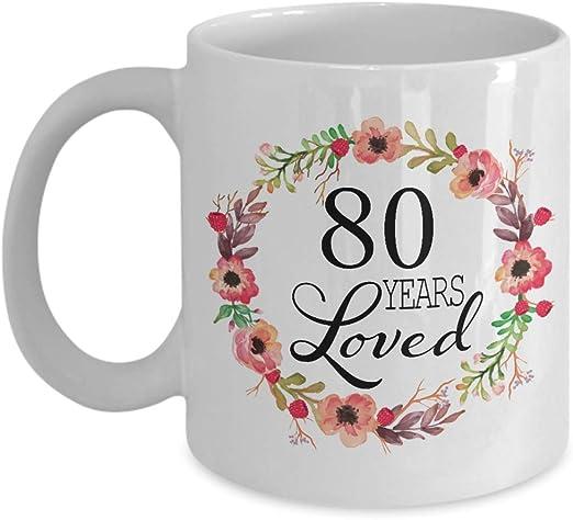 Amazon.com: Regalos para mujer de 80 cumpleaños, regalo para ...