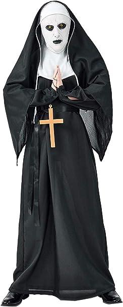 Adulto Halloween Disfraz de Monja de Terror Mujer Hombre Juego de ...