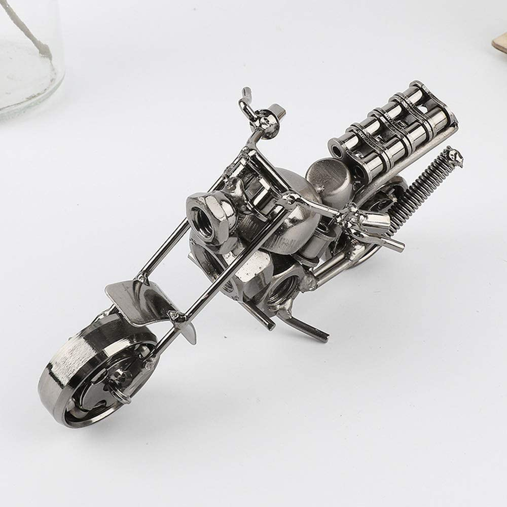 Modello motociclistico in ferro ornamenti moderni per la fotografia di motociclette retr/ò creativo Puntelli classici Moto vintage in metallo di moda per giocattoli per bambini Regalo ragazzo