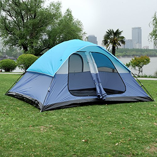 ShinyFunny 6-8 person Super-Large Family Camping Tent 3-Season Lightweight Backpacking Traveling Tent with 2 Doors and 3 Mesh Windows Review