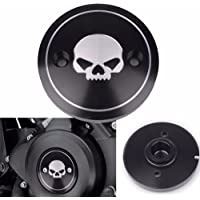 Frenshion Compatible para izquierda negro cnc motocicleta cráneo