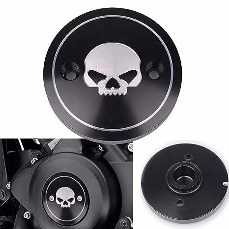 Frenshion izquierda negro cnc motocicleta cráneo embrague accesorios Derby temporizador cubierta de distribución para Harley Street