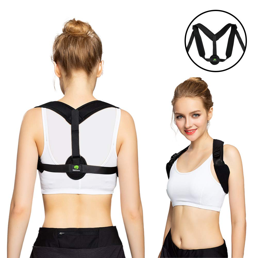 iBstone Back Brace Posture Corrector for Women and Teens, Clavicle Support Posture Brace to Fix Posture, FDA Approved Posture Corrector for Hunch Back