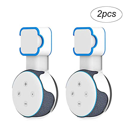 A Space-Saving Solution for Your Smart Home Speakers Without Messy Wires or Screws Plug in Kitchens MOGOI Wall Mount Holder for Dot 3rd Generation Bathroom and Bedroom