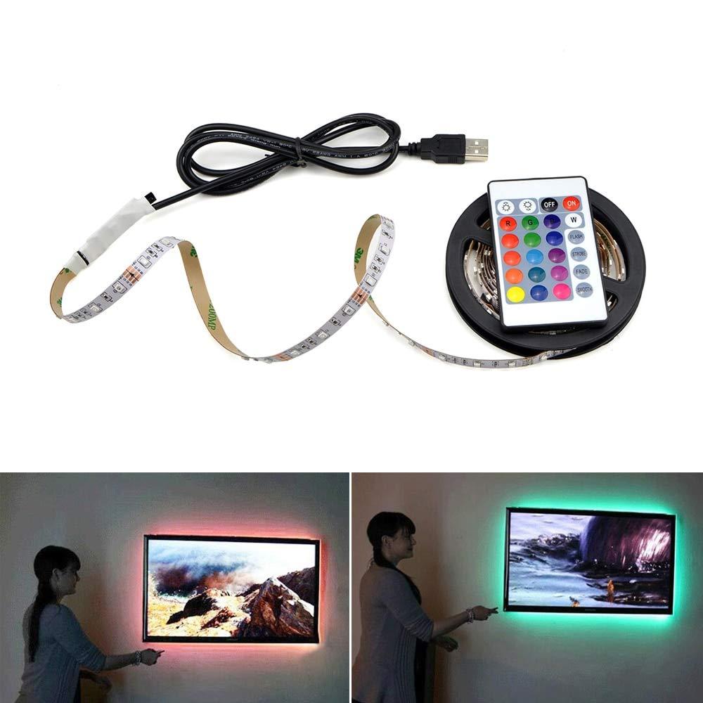 5V USB LED Under Cabinet Light White/Warm White RGB LED Lamp Strip 60leds/m Flexible LED Tape Kitchen Closet Light PC TV Decor