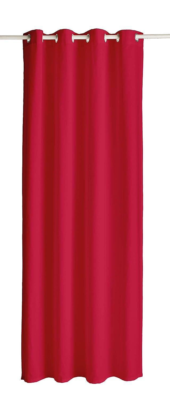 Today 257421 Rideau /à /œillets Coton Pomme damour//Rouge 140 x 250 cm