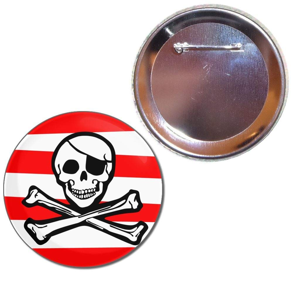 Jolly Roger Stripey - Bouton choix de badges de 25mm, 55mm ou 77mm taille BadgeBeast