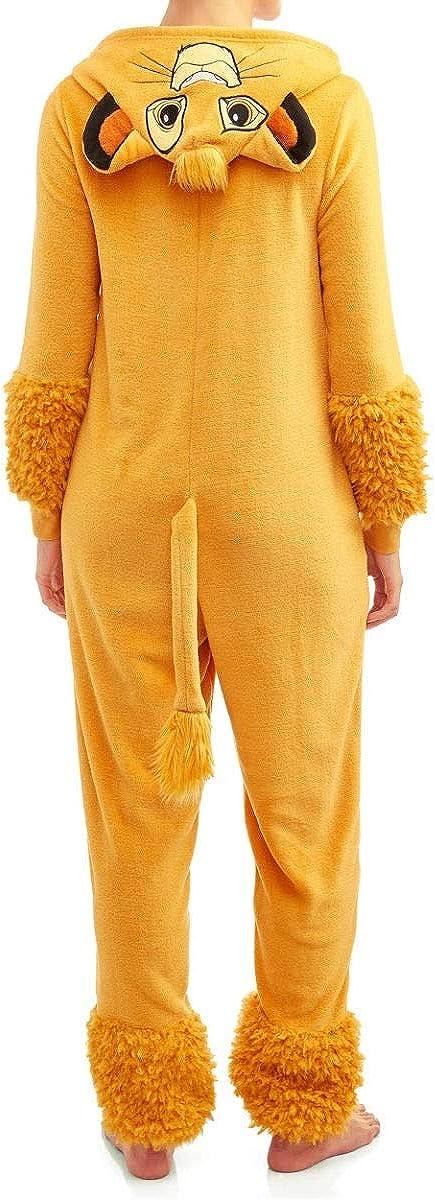 Gold Disneys Lion King Simba Womens Licensed Union Suit Medium