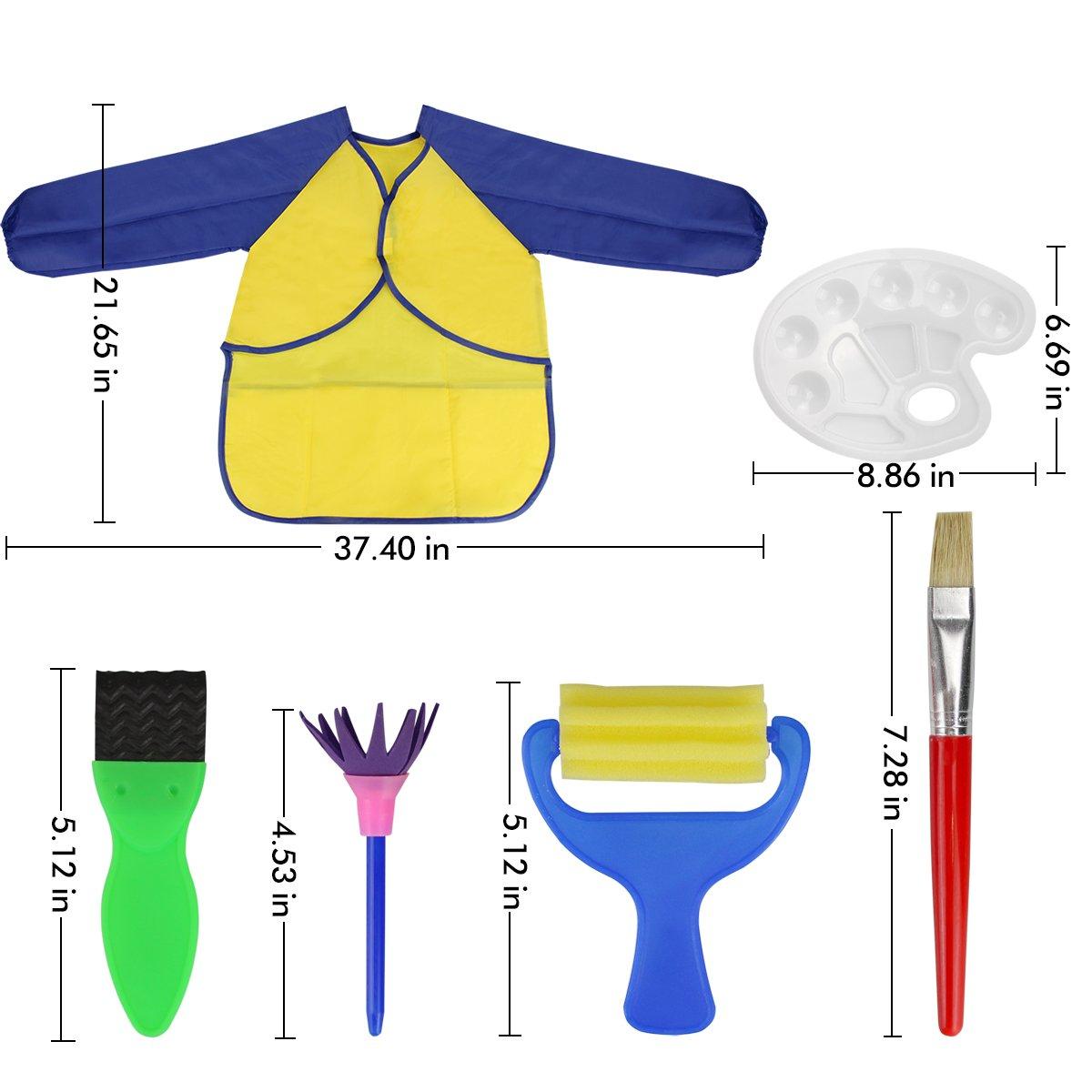 Pe Runfon Kit Di 18 Strumenti Educativi Spugna Da Pittura Per