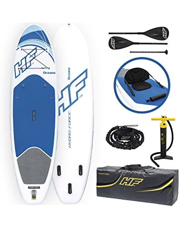 Bestway 65303 Hydro-Force Oceana - Tablas inflables de pie con remo de aluminio,