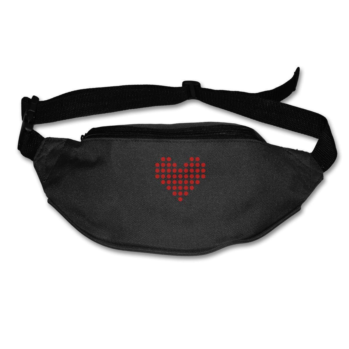 Novelty Colorful Cute Heart God Bless You Canvas Running Waist Pack Bag