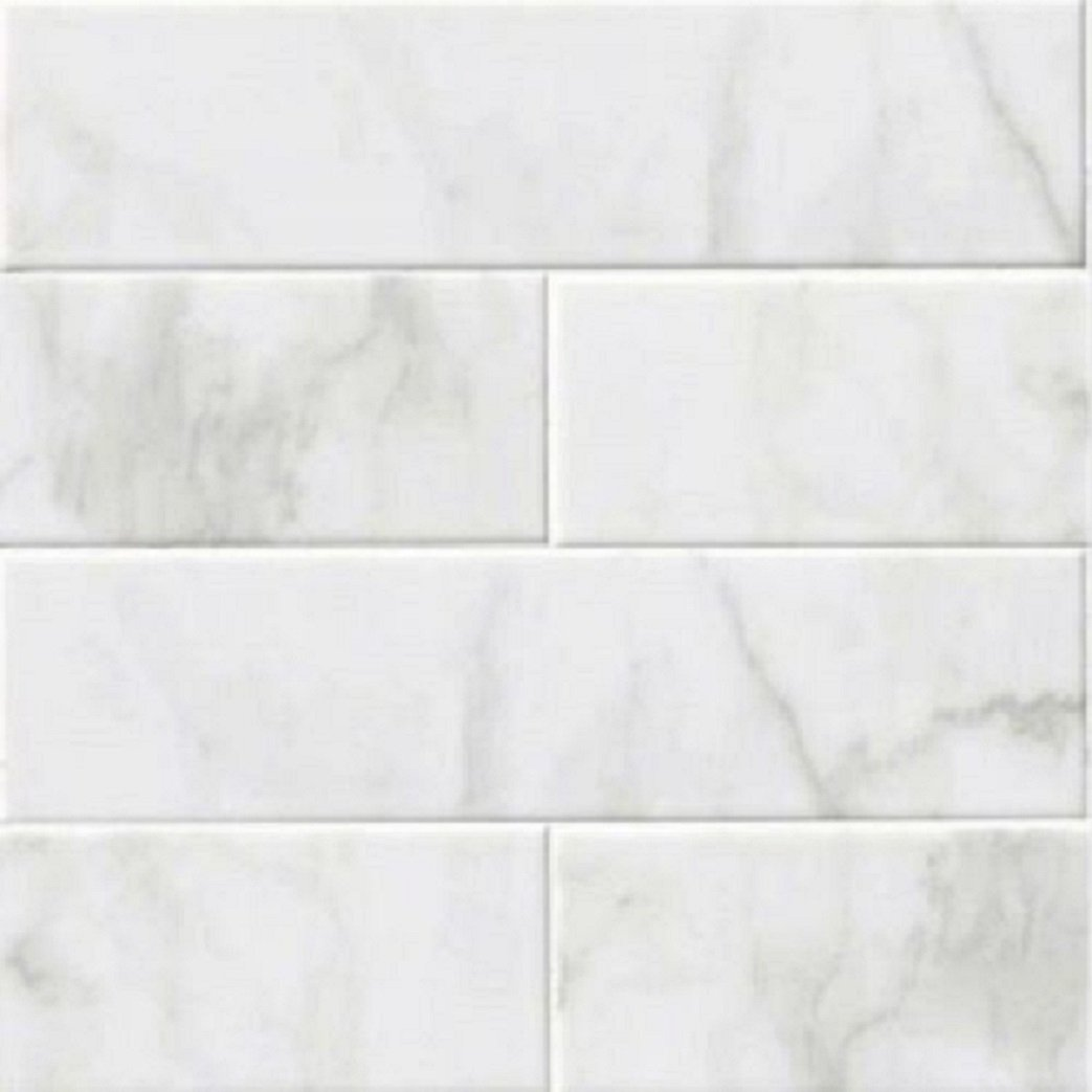 Glossy white carrara subway backsplash tile ceramic 4 x 16 glossy white carrara subway backsplash tile ceramic 4 x 16 kitchen bathroom shower amazon dailygadgetfo Choice Image