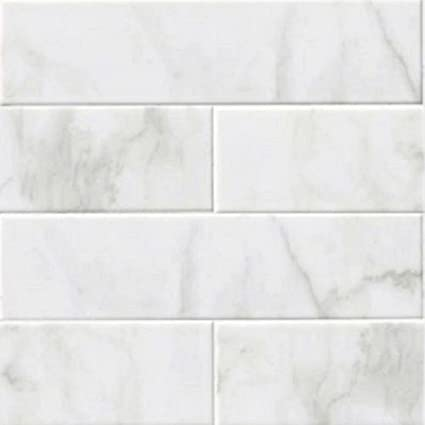 GLOSSY WHITE CARRARA Subway Backsplash Tile Ceramic X KITCHEN - 16 x 16 white ceramic floor tile