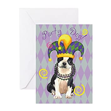 Amazon Cafepress Party Boston Terrier Greeting Card Note