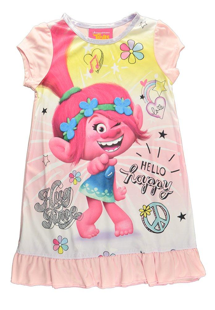 Trolls Little Girls Toddler Charcter Print Pink Pajama Nightgown (2T) by Trolls