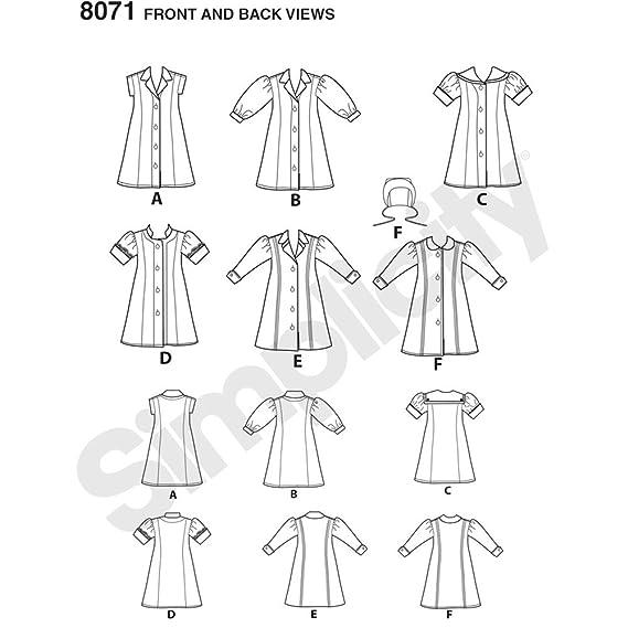Simplicity 3547 - Patrones de costura para hacer ropa de muñeca ...