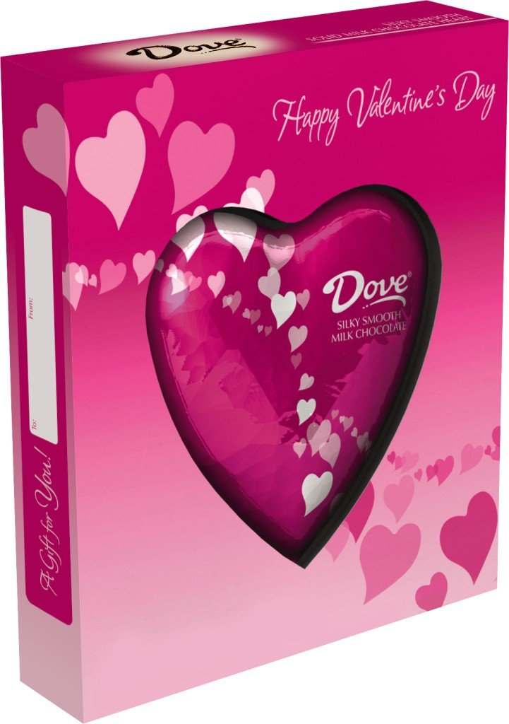 Amazon.com : DOVE Chocolate Valentine\'s Milk Chocolate Solid Heart ...