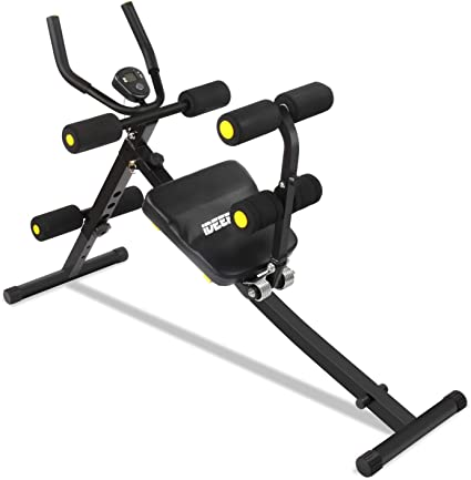 Amazon Com Ideer Life Core Abdominal Trainers Abdominal Workout Machine Whole Body Workout Equipment For Leg Thighs Buttocks Rodeo Height Adjustable Sit Up Exercise Home Ab Trainer With Lcd Display Black09035 Sports