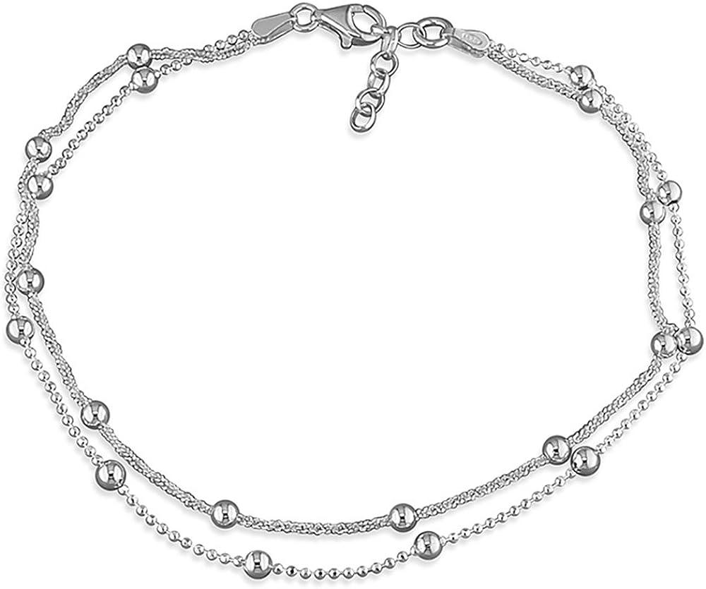 Love Elegant Leaf  Silver Anklet Foot Chain Crystal Bracelet Love UK
