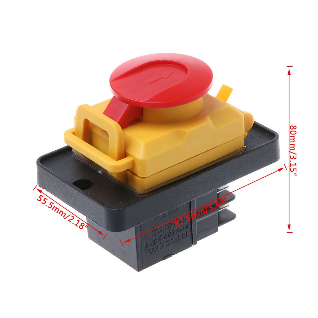 YoungerY KJD12 250V 4Pin Waterproof Magnetic Start Stop No Volt Release Pushbutton Switch